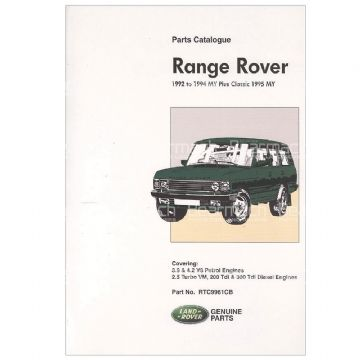 RTC9961C Parts Catalogue 92-94